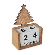 Настольный календарь, бежевый/белый фото