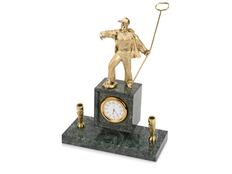 Настольный прибор Металлург, золотой фото