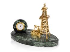 Настольный прибор Нефтяная симфония, золотой фото