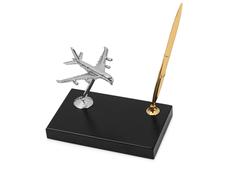 Настольный прибор Высший пилотаж, черный, серый, золотой фото