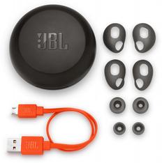 Наушники беспроводные внутриканальные затычки с зарядным кейсом футляром JBL Free X, черные фото