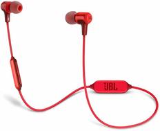 Наушники беспроводные внутриканальные Bluetooth JBL E25BT, красные фото