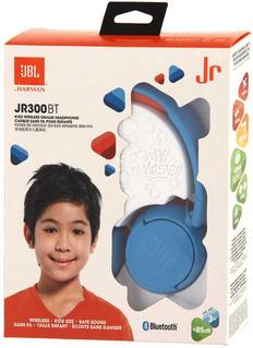 Наушники накладные Bluetooth JBL JR300 BT 1.2м, синие  фото