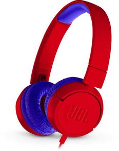 Наушники накладные Jbl JR300, красные/синие, 1 м фото