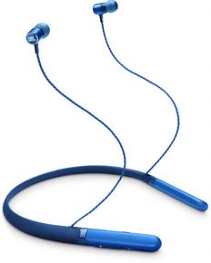 Наушники беспроводные внутриканальные спортивные, шейный обод, JBL Live 200 BT, синие фото