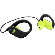 Наушники беспроводные внутриканальные для бега, JBL Sprint, лайм/ черный фото