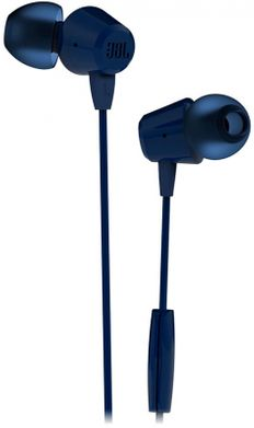 Наушники проводные JBL C50HI, синие фото