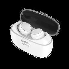 Наушники беспроводные внутриканальные затычки с зарядным кейсом футляром True Wireless Nobby Expert T 110, белые фото
