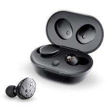 Наушники беспроводные внутриканальные затычки с зарядным боксом True Wireless Olmio TWE 05, черные фото