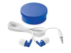Наушники проводные внутриканальные Versa, белые/ синие фото