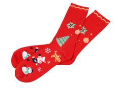 Носки в шаре Рождество женские, красные фото
