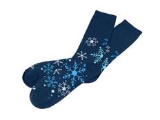 Носки в шаре Снежинка женские, синие фото