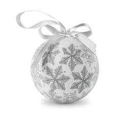 Шар елочный Flakies, серебро фото