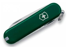 Нож перочинный Victorinox Classic, 58 мм, 7 функций, зеленый фото