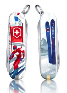Нож перочинный Victorinox Classic LE2020 Ski Race, 58 мм, 7 функций, синий/ разноцветный фото
