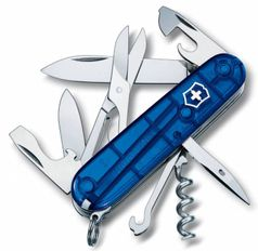 Нож Victorinox Climber, синий полупрозрачный, 91 мм, 14 функций фото