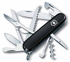 Нож Victorinox Huntsman, чёрный, 91 мм, 15 функций, в картонной коробке фото