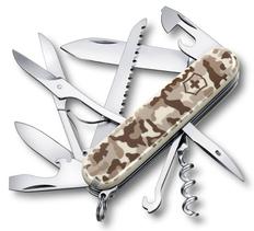 Нож Victorinox Huntsman, камуфляж пустыни, 91 мм, 15 функций, в картонной коробке фото