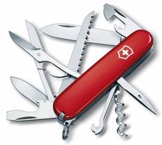 Нож Victorinox Huntsman, красный, 91 мм, 15 функций, в картонной коробке фото