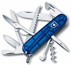 Нож Victorinox Huntsman, синий/полупрозрачный, 91 мм, 15 функций фото