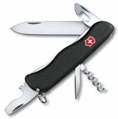 Нож Victorinox picknicker, чёрный, 111 мм, 11 функций, в картонной коробке фото