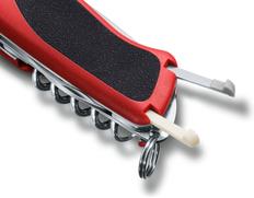 Нож складной, 130 мм, 5 функций, Victorinox RangerGrip, антрацит / красный фото