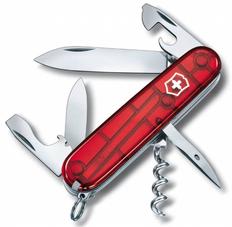 Нож Victorinox Spartan, красный полупрозрачный, 91 мм, 12 функций фото