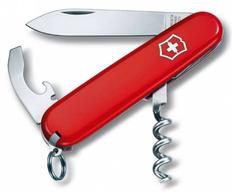 Нож складной 84 мм, 9 функций Victorinox Waiter, красный фото