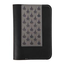 Обложка для паспорта Самолеты, черный, серый фото