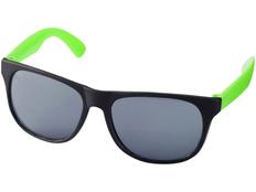 Очки солнцезащитные Retro, УФ 400, черный/зеленое яблоко фото