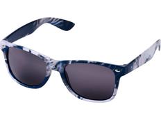 Очки солнцезащитные Sun Ray в пестрой оправе, серые/ белые фото
