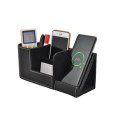 Органайзер настольный Manner c беспроводной зарядкой, черный фото