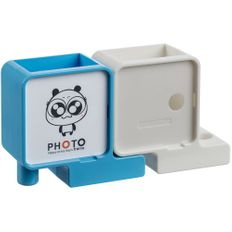 Органайзер с фоторамкой Officelover, белый / голубой фото