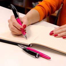 Ручка роллер B1 Original, оранжевая / черная фото