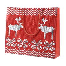 Пакет большой Oh my deer, 43*32*11 см, флокированный фото
