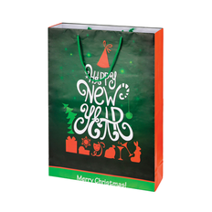 Пакет подарочный, зеленый фото