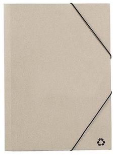 Папка из восстановленного картона Ecosum А4, бежевая фото
