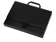 Папка пластиковая А4 с ручкой, черная фото