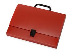 Папка пластиковая А4 с ручкой, красная фото