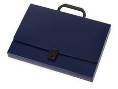 Папка пластиковая А4 с ручкой, синяя фото