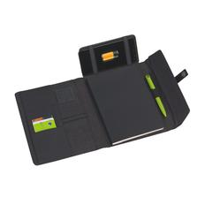 Папка с беспроводным ЗУ 4000 mAh и блокнотом softtouch, черный фото