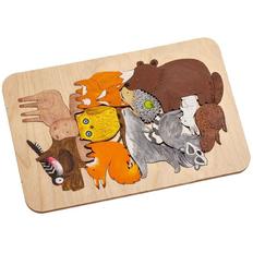 Пазл-раскраска Wood Games, лесные жители фото