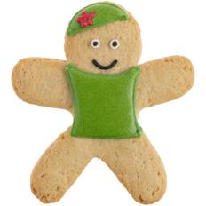 Печенье в форме человечка Red Star, разноцветное фото