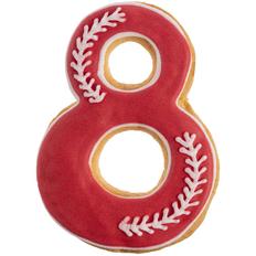Печенье в форме восьмерки Primavera, красное фото