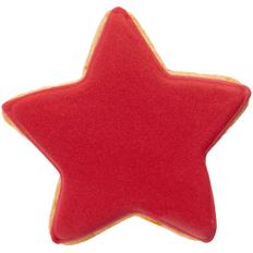 Печенье в форме звезды Red Star, красное фото
