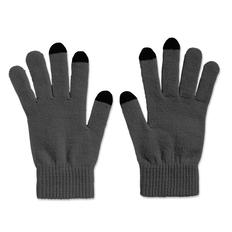 Перчатки для сенсорных экранов, серые фото