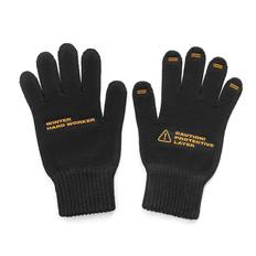 Перчатки вязаные, чёрные фото