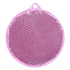 Пешеходный светоотражатель Круг, розовый фото