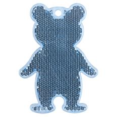 Пешеходный светоотражатель Мишка, синий фото