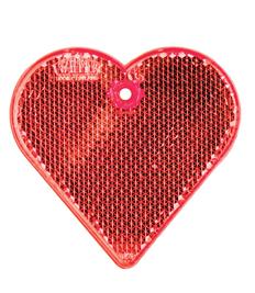Пешеходный светоотражатель Сердце, красный фото